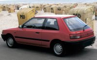 Mazda Familia BG, хэтчбэк, вид сзади